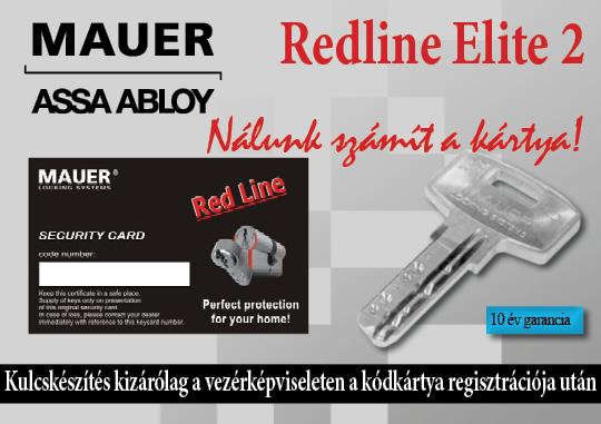 Redline Elite kulcskészítés biztonsági kártyával
